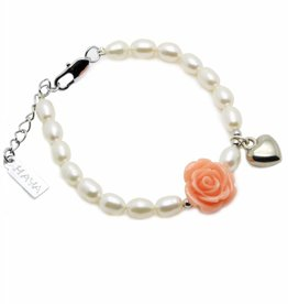 Flower Girls Bracelet 'Flower' with Heart