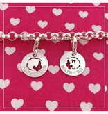Accent Charms Jasseron Silver Bracelet with Two Engraved Charms