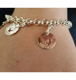 KAYA jewellery Engraved silver charm 'Baby Feet'