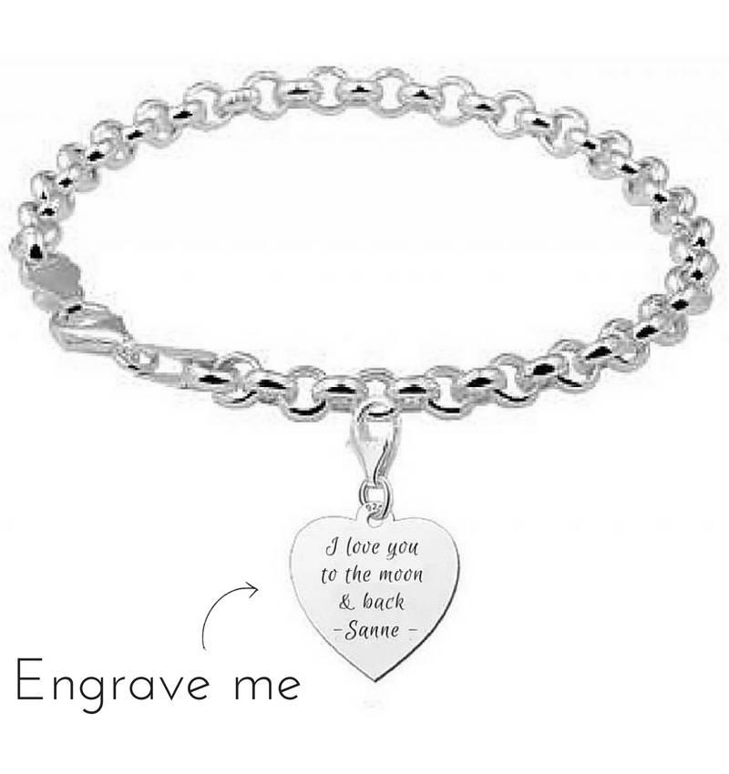 KAYA jewellery Silver jasseron bracelet ★to the moon & back★
