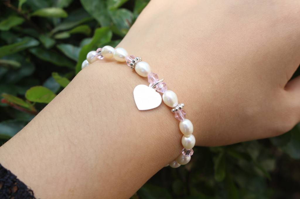 KAYA jewellery Silver Bracelet with Engraved Charm
