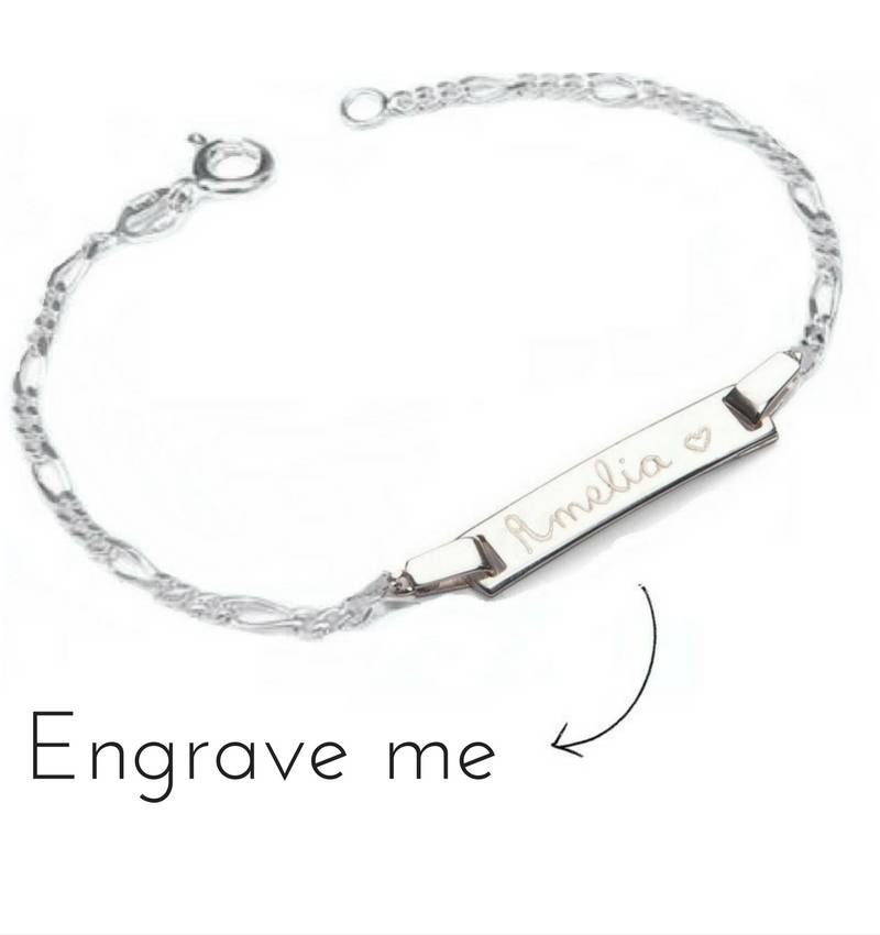 engraved silver bracelet charms jewelry. Black Bedroom Furniture Sets. Home Design Ideas