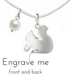 "KAYA jewellery Silver Necklace ""Squirrel"" with First Name Engraving"