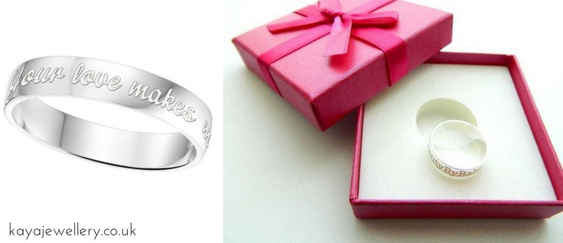 This Christmas re-propose your wife with engraved rings