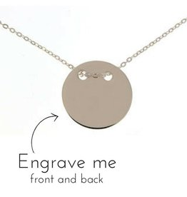 Engraved jewellery Silver Necklace 'Eternity' for Mum