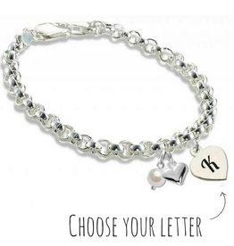 KAYA jewellery Silver Jasseron Bracelet 'Initial'