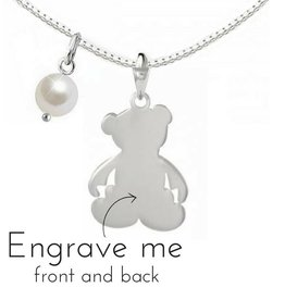 "KAYA jewellery Silver necklace ""Bear"" with first name engraving"