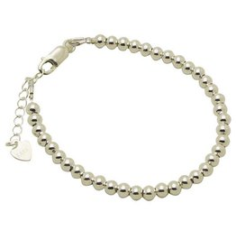 Engraved jewellery Silver bracelet 'Cute Balls'