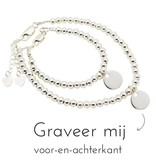 KAYA jewellery Silver bracelets set 'Cute Balls' With Charms