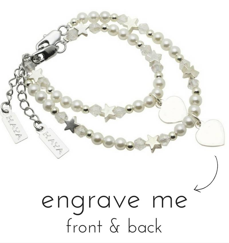 Engraved jewellery Personalized Mother and Daughter Bracelets Set