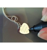 Engraved jewellery 3rd Generation Set 'Silver Engraved Charms'