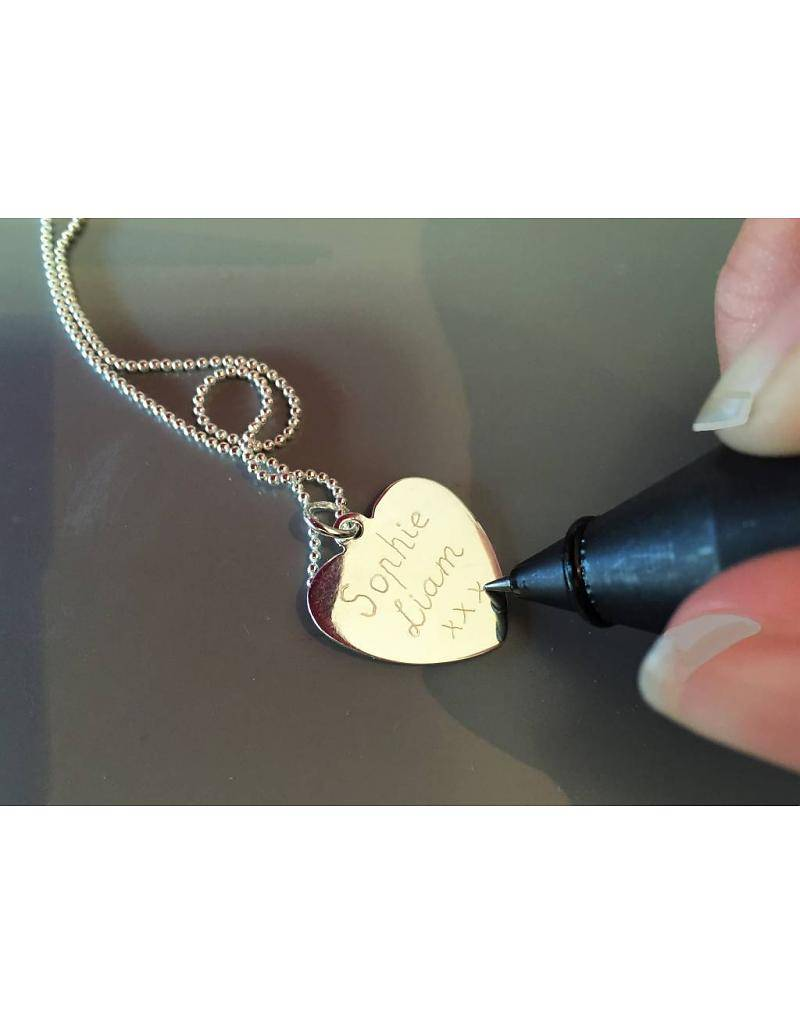 KAYA jewellery 3rd Generation Set 'Silver Engraved Charms'
