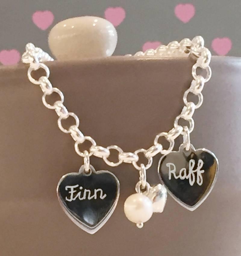 KAYA jewellery Silver Chain Bracelet 'Personalised'