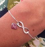 "silver jewellery Silver Infinity Bracelet ""Forever With Me"""