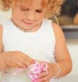 KAYA jewellery Silver Ear Hoops With Swarovski Pearl