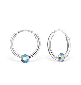 silver jewellery Silver Hoops 'Sapphire Blue'