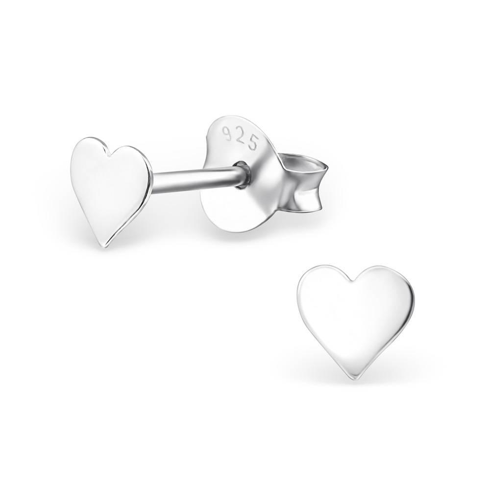 silver jewellery Heart-shaped Earrings