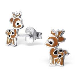 silver jewellery Children's Silver Deer Ear Studs