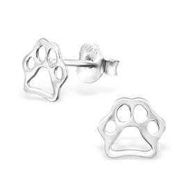 silver jewellery Children's Silver Paw Print Ear Studs