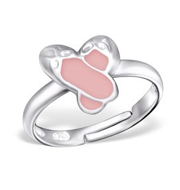 KAYA jewellery Children's Silver Ballet Shoes Adjustable Ring