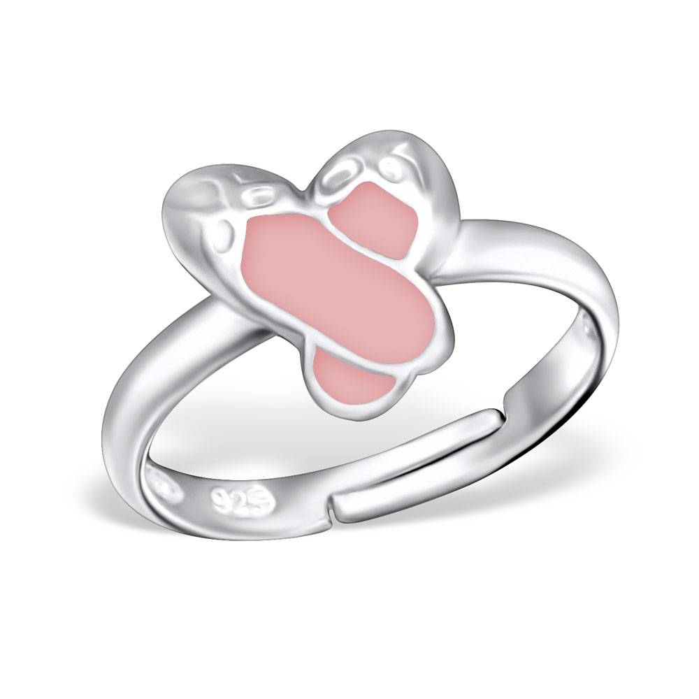 silver jewellery Children's Silver Ballet Shoes Adjustable Ring