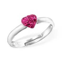 KAYA jewellery Kid's Silver Heart Ring