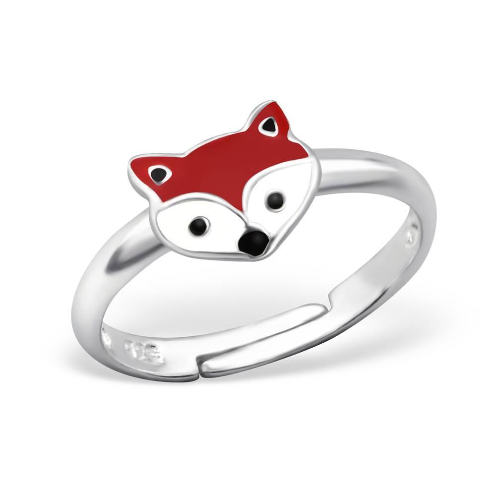 silver jewellery Children's Silver Fox Adjustable Ring