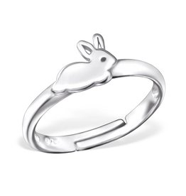 silver jewellery Children's Silver Rabbit Adjustable Ring