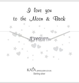 "silver jewellery Silver Baby Bracelet ""I Love You To The Moon & Back '"