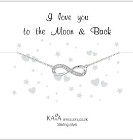 silver jewellery Gift Box Silver bracelet 'Infinity' Moon & Back