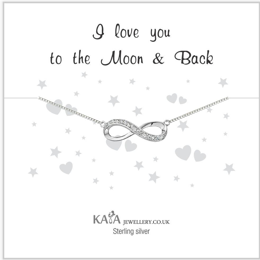 KAYA jewellery Gift Box Silver bracelet 'Infinity' Moon & Back