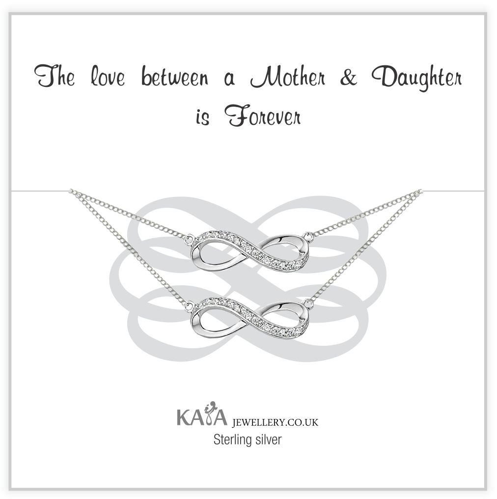 silver jewellery Gift Box Silver Bracelets 'Infinity' Mother Daughter