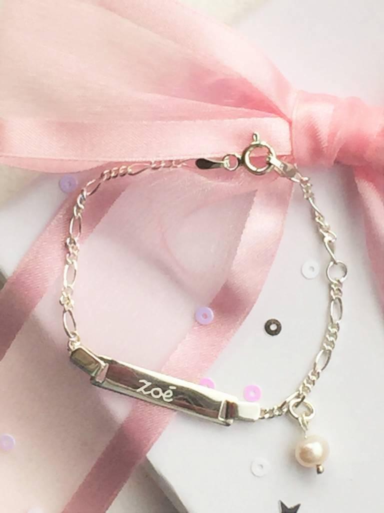Engraved jewellery Silver Engraved Bracelet 'Cute'