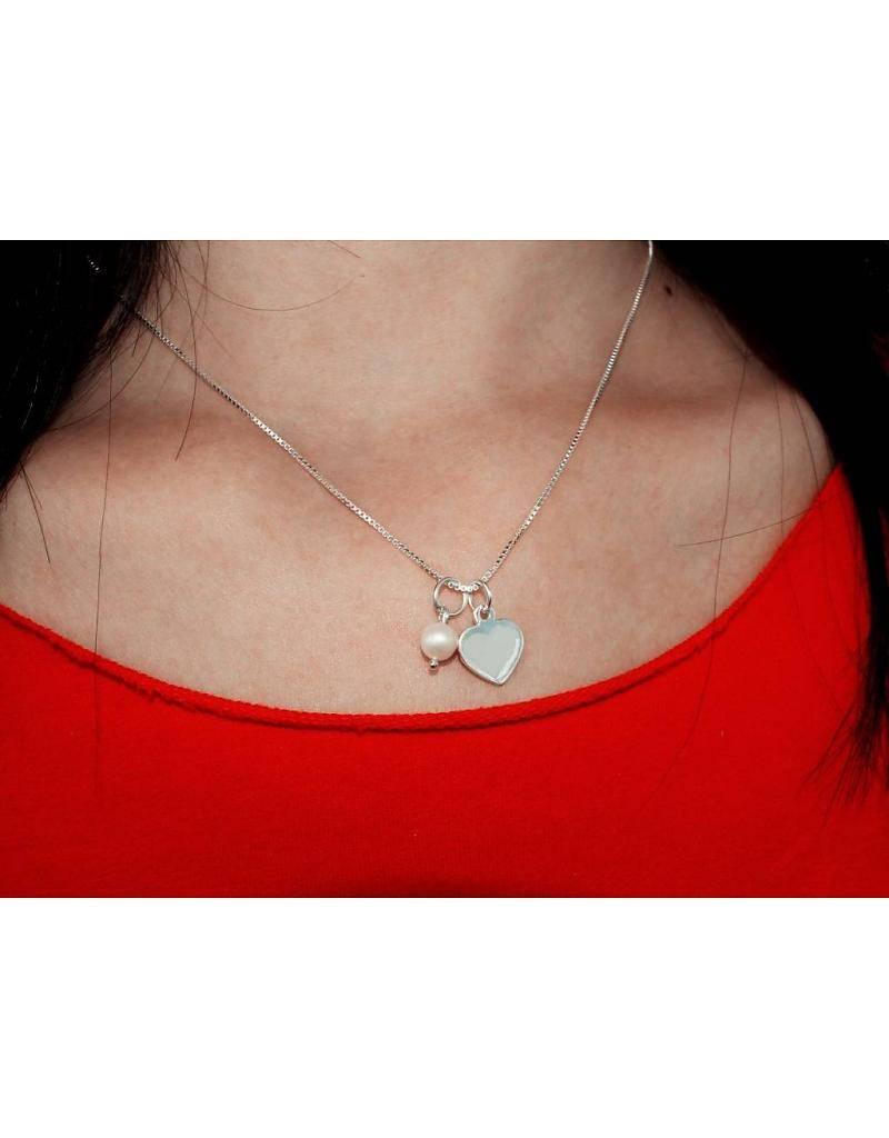 KAYA jewellery Silver Engraved Chain 'Twinkle Twinkle'