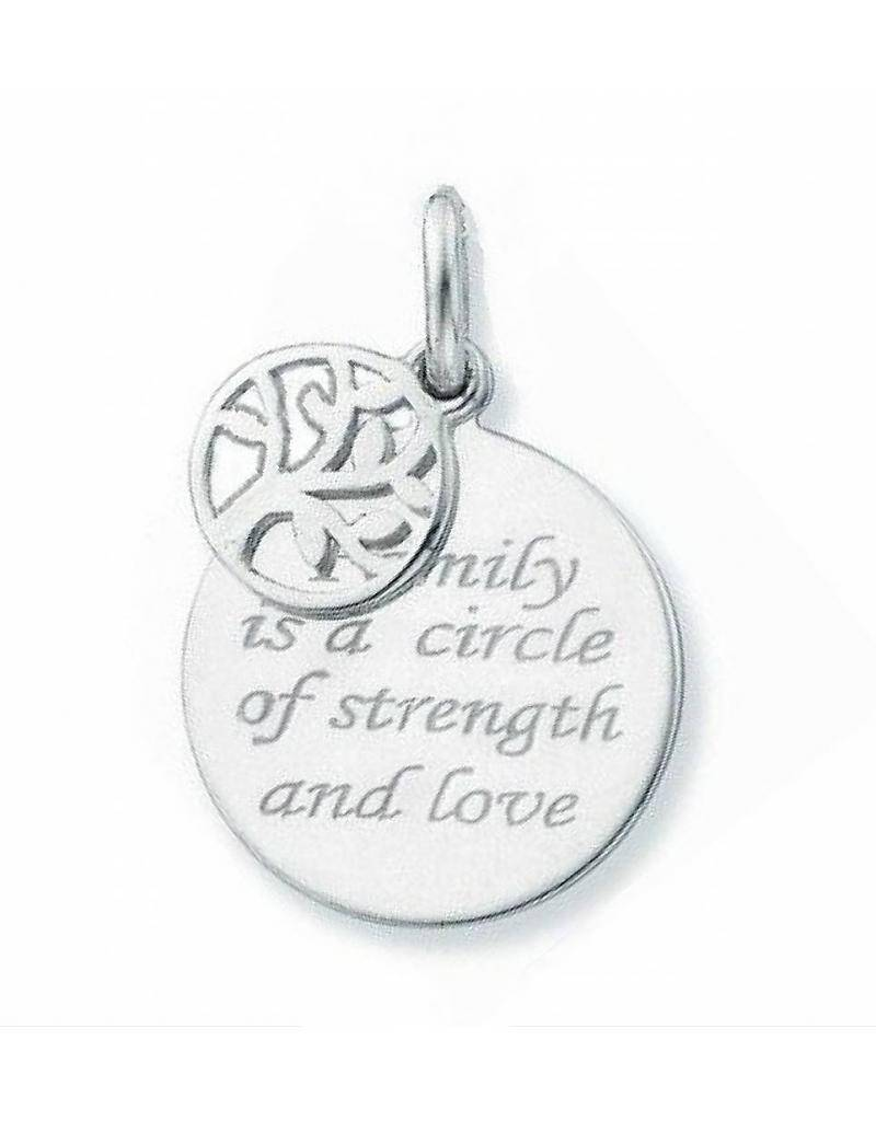"KAYA jewellery Silver necklace ""Family is a circle of strength and love"""