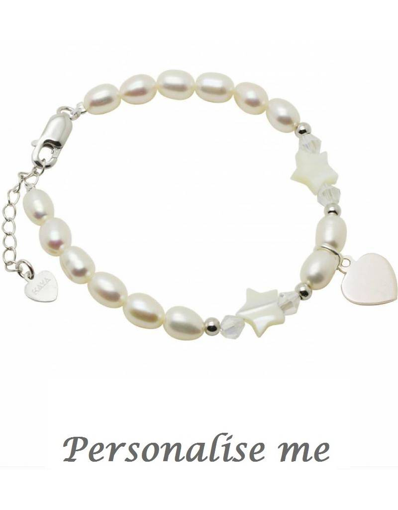 KAYA jewellery Silver Bracelet White Star 'Customized'