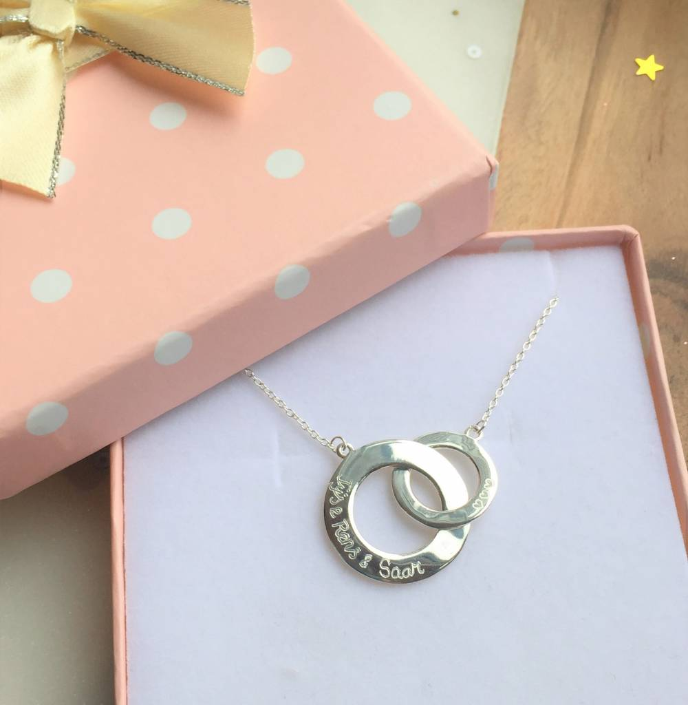 silver jewellery Silver Necklace 'Entwined'