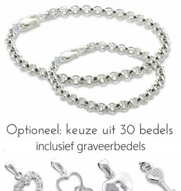"silver jewellery Silver bracelets set with ""Choose your charms"""
