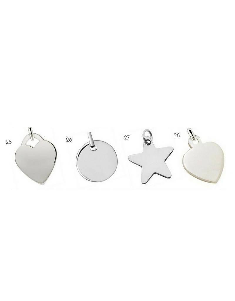 KAYA jewellery 3 Silver Bracelets 'Cute Balls Heart'