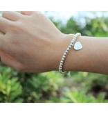 Engraved jewellery Silver bracelets set 'Cute Balls' with heart