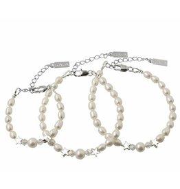Engraved jewellery 3 generation set 'Mermaid Pearl'