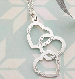 """Engraved jewellery Names4ever Silver necklace """"Three or Six Kids'"""