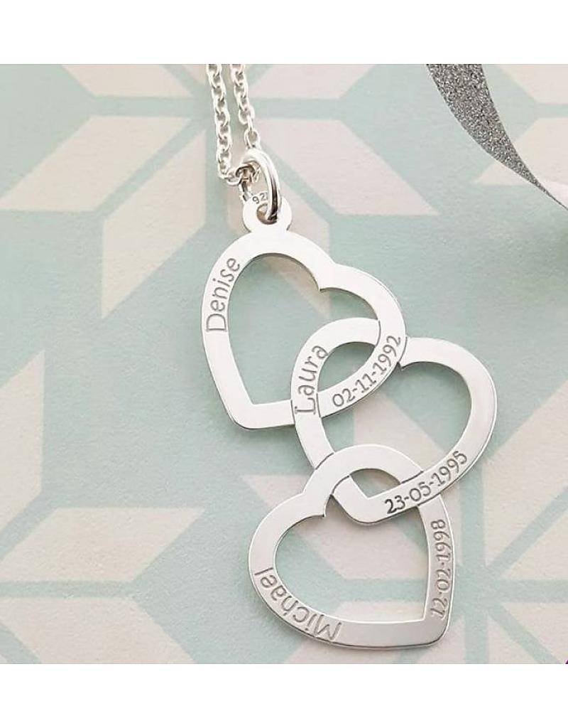 "Engraved jewellery Names4ever Silver necklace ""Three or Six Kids'"