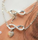 Engraved jewellery Silver set 'You hold the Key to my Heart'