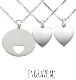 Engraved jewellery Silver Necklaces For 'Mom & Two Daughters'