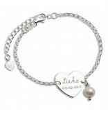 "KAYA jewellery Silver Bracelet set ""Memory & Pearl '"