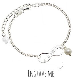 Engraved jewellery Infinity Silver Bracelet 'Forever'