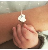Engraved jewellery Silver Bracelet Front and Back Engraving