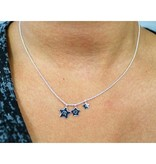 silver jewellery Silver Necklace '3 Stars engraving'