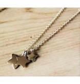 KAYA jewellery Silver Necklace '3 Stars engraving'